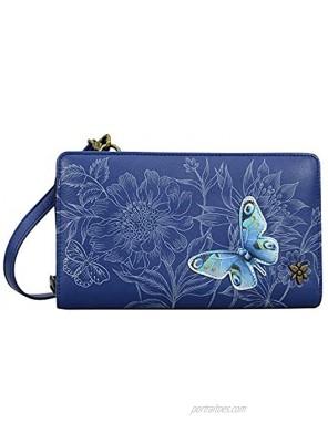 Anuschka Women's Genuine Leather Organizer Wallet Hand Painted Original Artwork