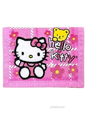 Hello Kitty Trifold Wallet w  Bear Pink New Gift Toys Licensed 81605