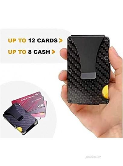 Minimalist Carbon Fiber Wallet |Slim Wallet with RFID Blocking |Front Pocket for Credit Card and Money Clip |for Men Women