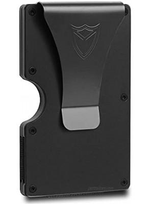 Slim Wallet for Men RFID Blocking Aluminum Wallet Carbon Fiber Card Case Metal Wallet Minimalist Front Pocket Card Holder Gift
