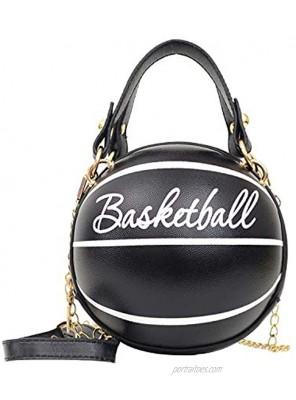 Freie Liebe Basketball Shaped Purse For Women Cross Body Handbag Girls Messenger Bag Tote Shoulder PU Leather Round Handbags