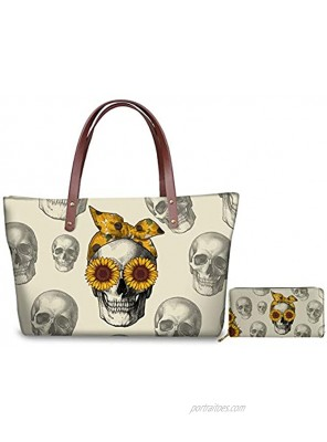 JEOCODY Women Long Wallet Leather Purse Top Handle Tote Bag Large Casual Shoulder Handbag Girls Gift