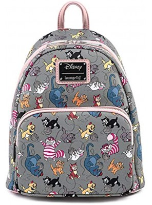 Loungefly Disney Cats Faux Leather Womens Double Strap Shoulder Bag Purse