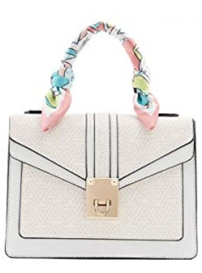 ALDO womens Legalilith Dome Satchel Handbag Other Beige One Size US