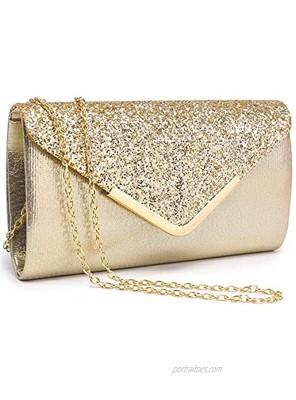 Dasein Evening Bag Envelope Handbag for Women Fashion Clutch Bag Ladies Shiny Sequins Evening Party Bag Prom Wedding