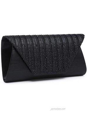 Dasein Evening Bag for Women Glitter Rhinestone Wedding Evening Purse Envelope Clutch Crossbody Shoulder Bags