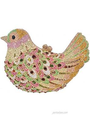 Luxury Crystal Clutch Bird Evening Bag