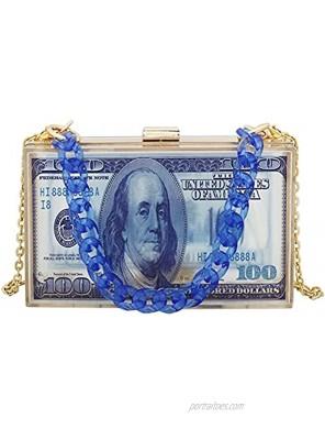 Teridiva Money Clutch Purses for Women Crossbody Small Cute Acrylic Box Evening Bag Transparent Graffiti Handbag