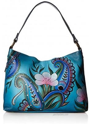 Anna by Anuschka Women's Genuine Leather Large Hobo Handbag   Zip-Top Organizer