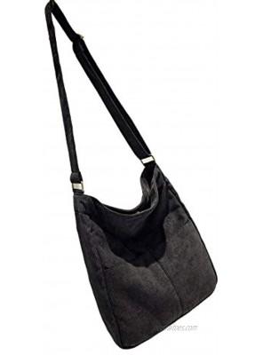 BOBILIKE Women Shoulder Bags Corduroy Crossbody Bag Handbag Purse Schoolbag