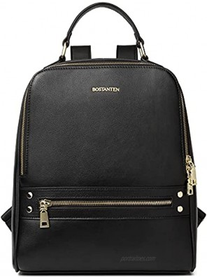 BOSTANTEN Backpack Purse for Women Leather College Fashion Bag Casual Travel Daypack Backpacks