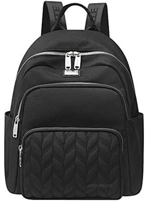 Nylon Women Backpacks Purse Black Casual Lightweight Fashion Backpacks Rucksack Daypack for Women Ladies Teens School Bags … Leaf Black