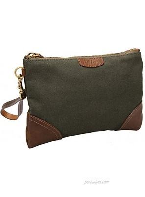 Women Canvas Wristlet Bag Clutch Wallet Purses Smartphone Handbag A80