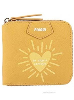 PIAGUI Wallet for Woman MALVA Mustard Synthetic Mexican Handbag