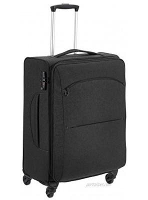 Basics Urban Softside Spinner Luggage 25-Inch Black