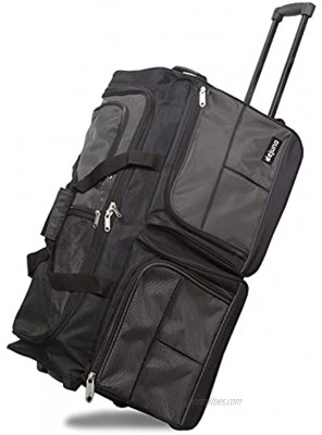 Dejuno 28-Inch Carry-on Rolling Duffle Bag Charcoal
