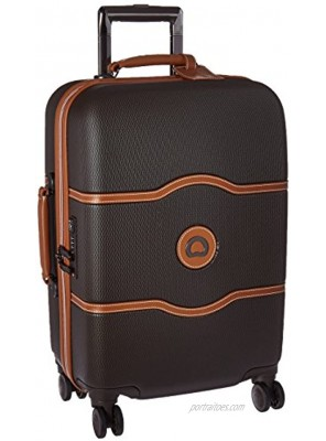 DELSEY Paris Chatelet Hardside Luggage with Spinner Wheels Chocolate Brown Carry-on 21 Inch with Brake