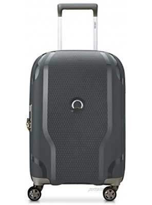 DELSEY Paris Clavel Hardside Expandable Luggage with Spinner Wheels Dark Gray Carry-On 19 Inch
