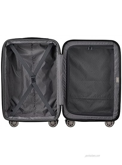 DELSEY Paris Comete 2.0 Hardside Expandable Luggage with Spinner Wheels Anthracite Carry-on 21 Inch