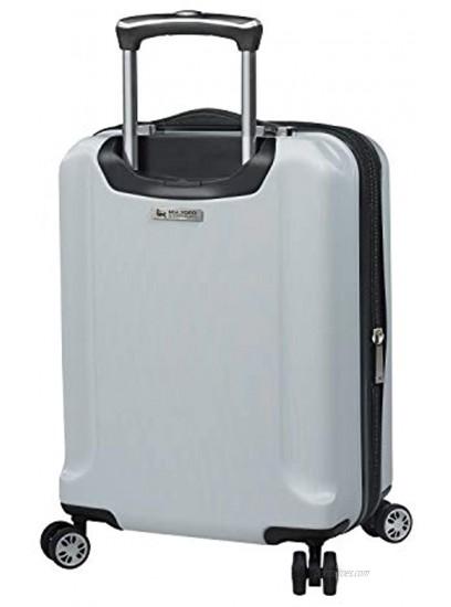 Mia Toro Italy Moda Hardside Spinner Luggage Carry-on White One Size