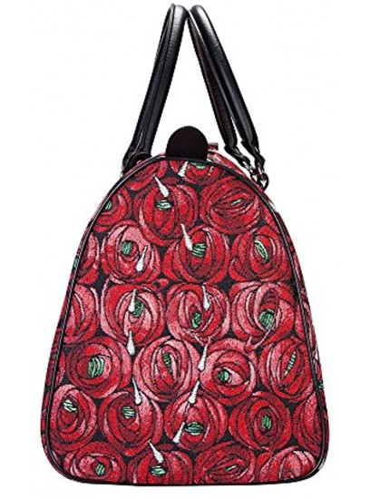 Signare Tapestry Large Duffle Bag Overnight Bags Weekend Bag for Women with Mackintosh Rose and Teardrop DesignBHOLD-RMTD
