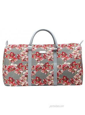 Signare Tapestry Large Duffle Bag Overnight Bags Weekend Bag for Women with Orchid Design BHOLD-ORC
