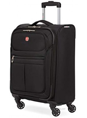 SwissGear 4010 Softside Luggage with Spinner Wheels Black Carry-On 18-Inch