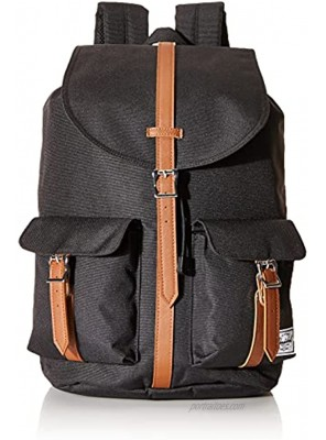 Herschel Dawson Backpack Black Tan Synthetic Leather Classic 20.5L