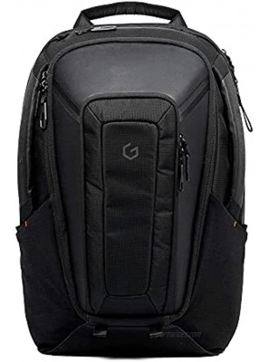 Carry+ Professional Laptop Backpack 17 Inch Hard Shell Protection Gaming Computer Bag Cool Looking Water-repellent for Work Business School College Riding Travel Men Women-Black