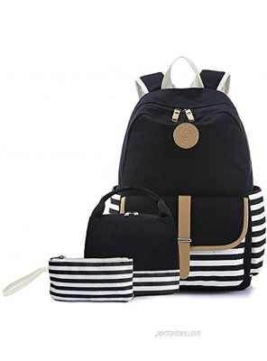 Backpack for Girls School Backpack Bookbags with Lunch Box and Pencil Case