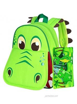 """Dinosaur Backpack 12"""" Toddler Bookbag for Boys"""