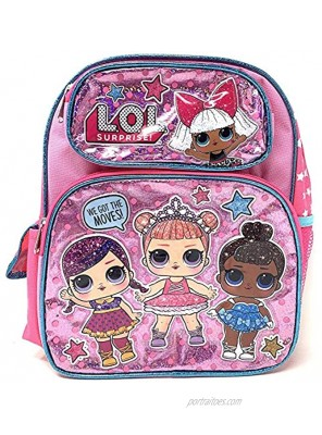 """LOL 12"""" Small Pink Shiny Girls' School Backpack A16303"""