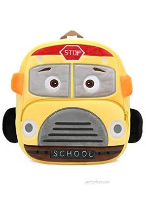 Preschool Toddler Plush Truck Car Excavator Mixer Bulldozer Backpack for Little Boys Girls Kids