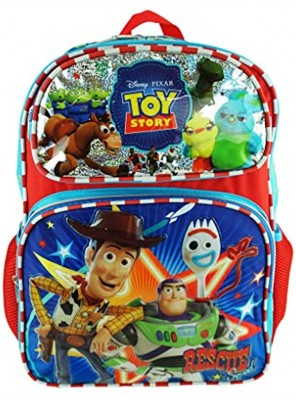 """Toy Story 4 Deluxe 16"""" Full Size Backpack Toy Heroes A19427"""