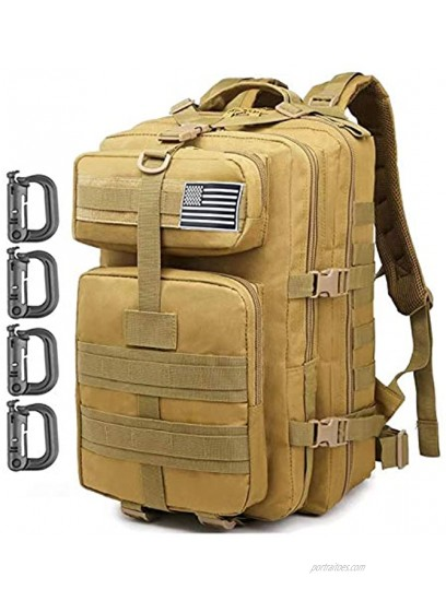 ATBP Military Tactical Backpack Molle Rucksack Backpack 35L Travel Backpack Hiking Daypack Camping Hunting Backpack