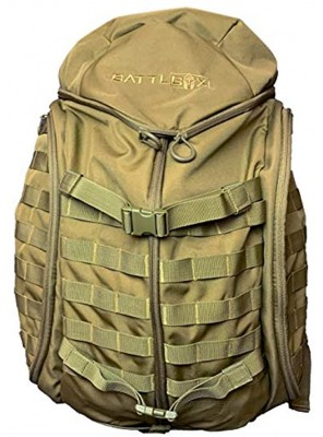 BattlBox Spartan Bag 32L Backpack 2 Day Trekking Pack Coyote Tan Color Molle Compatible Outdoor 2-Day 32 Liter Backpack Lightweight Military Tactical Hiking Bag
