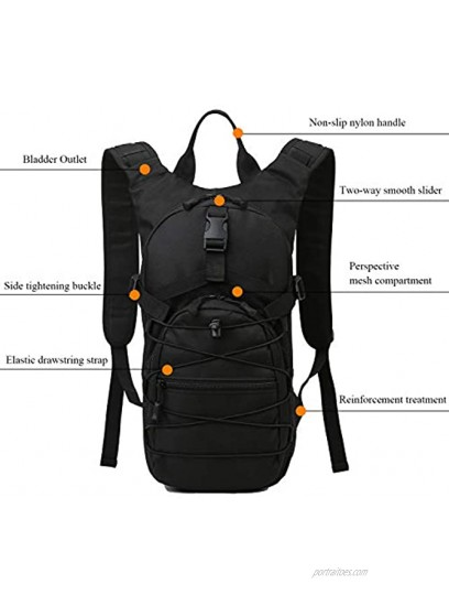 HWJIANFENG 15L Hydration Pack Backpack,Cycling Backpack Biking Backpack Riding Daypack Bike Rucksack Breathable Lightweight for Travelling Hydration Bag Men Women