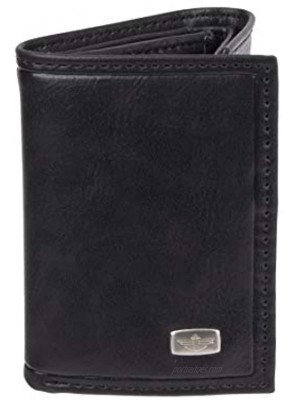 Dockers Men's RFID Extra Capacity Trifold Wallet With Zipper Pocket Credit Card Slots ID Window