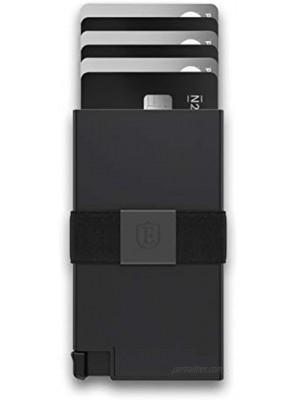 Ekster Aluminum Cardholder 0.2-inch Slim Minimalist Wallet Expandable Backplate RFID Blocking Layer Durable Space-Grade 6061-T6 Aluminum 1-15 Card Storage Capacity Matte Black