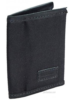Hide & Drink Waxed Canvas Slim Card Holder Holds Up to 5 Cards Plus Folded Bills Compact Wallet Everyday Accessories Handmade Includes 101 Year Warranty :: Charcoal Black