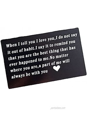 Anniversary Birthday Gift Cards for Husband Boyfriend from Wife Girlfriend When I Tell You I Love You Wallet Card Gifts for Men Him