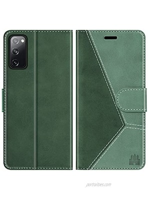 Caislean Wallet Case for Samsung Galaxy S20 FE 5G 6.5 inch PU Leather Flip Cover [RFID Blocking] Credit Card Holder Slots [Soft TPU Shell] [Kickstand Function] Magnetic Protection Folio Case Green