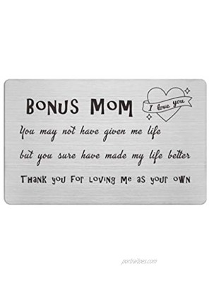 Mothers Day Gifts Wallet Card for Stepmom Mother In Law Birthday Wedding Gift