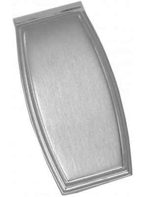 Brushed Silver Oval Stainless Steel Boxed Money Clip
