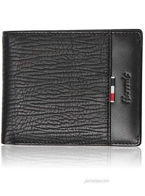 Genuine Leather Wallets for Men Harrm's High Capacity Soft Leather Wallets Peafect Gift for Men