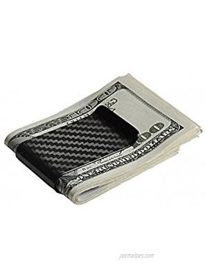 Merit Ocean Matte Carbon Fiber Money Clip Slim Wallet Business Card Credit Card Holder