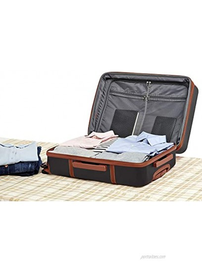 Basics Vienna Spinner Suitcase Luggage Expandable with Wheels 26.7 Inch Black