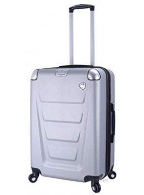 Mia Toro Italy Accadia Hardside 26 Inch Spinner Luggage Silver One Size