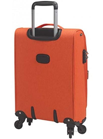 Mia Toro Italy Aosta Softside 24 Inch Spinner Luggage Navy One Size