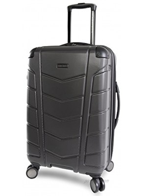 Perry Ellis Tanner 29 Hardside Checked Spinner Luggage Charcoal One Size